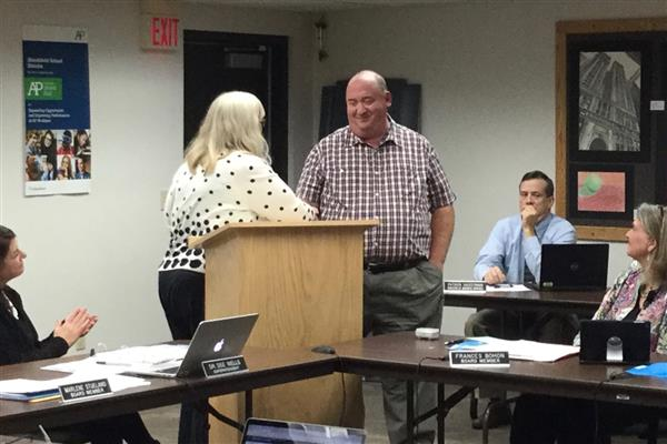 Staff Recognized at October's Board Meeting