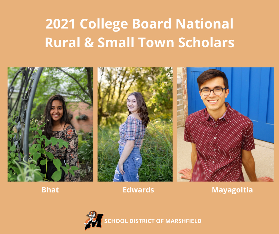 Three MHS Seniors Named College Board Nat'l Rural & Small Town Scholars